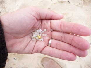 Micro plastics. Nurdles or Mermaids Tears