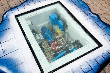 Porthole into underground workings.