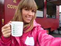 "Pre shoot tea. Asked for a ""real"" mug. Easy!"