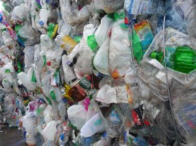 Plastic piled high...