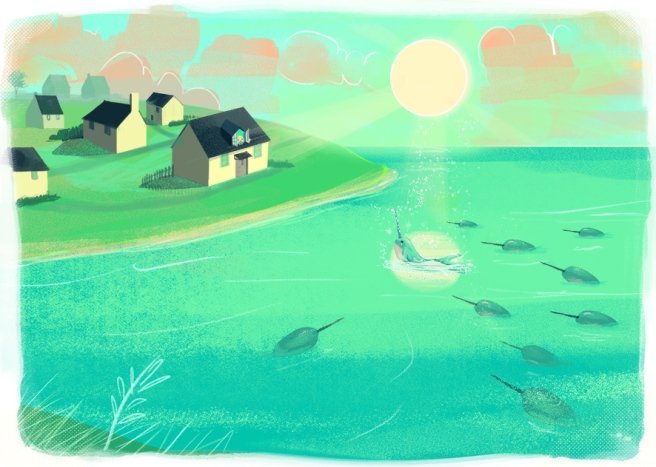 21 Double page narwhals